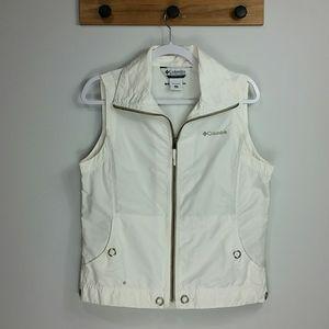 Columbia white omni-shade vest with pockets medium